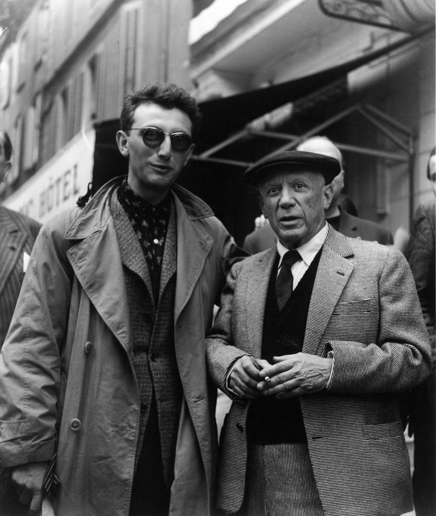 Premie_re-rencontre-Lucien-Clergue-et-Picasso_-Arles_1953