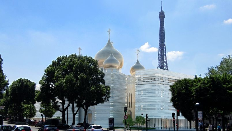 Image centre spirituel & culturel orthodoxe russe à Paris CREDIT : Wilmotte & Associés SA